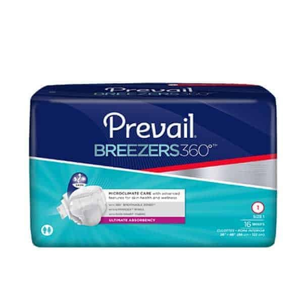 Prevail Breezers 360 Adult Diapers with Tabs