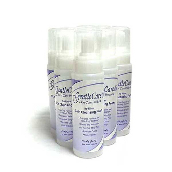 GentleCare Foaming No-Rinse Skin Cleanser 8 ounce available in a 12 case pack