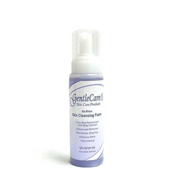 GentleCare No-Rinse Foaming Perineal Incontinence Wash 8 ounce bottle